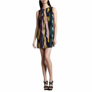 M Missoni 100% Silk Ikat Shift Sleeveless dress